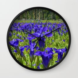 Field of Purple Wall Clock