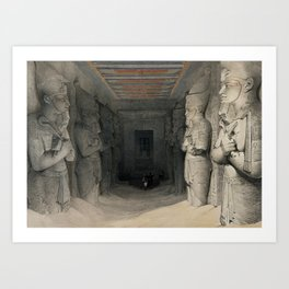 Interior of the Temple of Aboo Simble, Egypt (1846) Art Print