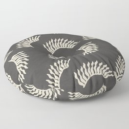 When the leaves become wings - Gray and beige Floor Pillow