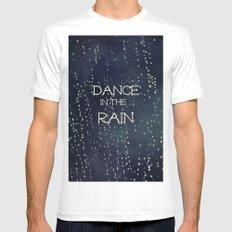 Dance in the Rain Mens Fitted Tee White MEDIUM