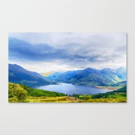 View from Bealach Ratagan to the Five Sisters of Kintail Canvas Print