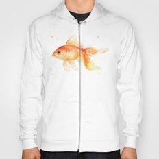 Goldfish Watercolor Fish Hoody