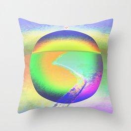 Iceberg A68 - Ultraviolet Satin Throw Pillow