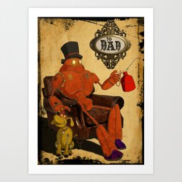To Dad - Steampunk Art Print
