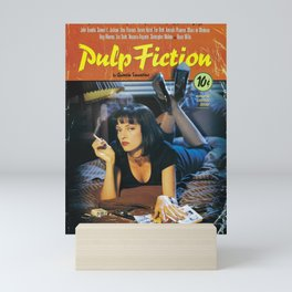 Pulp Fiction Movie Poster, Written And Directed By Quentin Tarantino Artwork, Posters, Prints, Tshir Mini Art Print