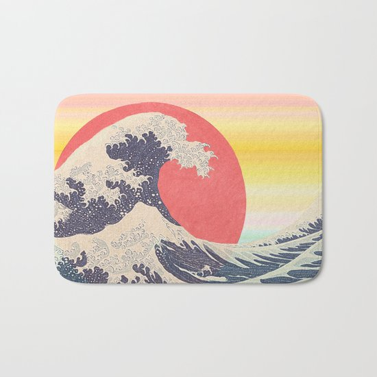 Hokusai revisited Bath Mat
