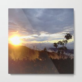Sunset over the jungle in Costa RIca Metal Print