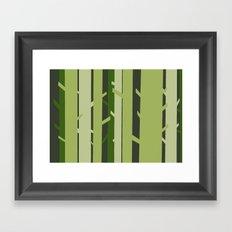 Trees - Green Framed Art Print