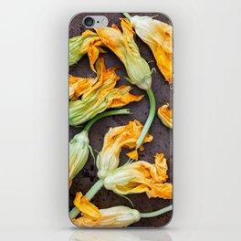 Zucchini Blossoms iPhone Skin