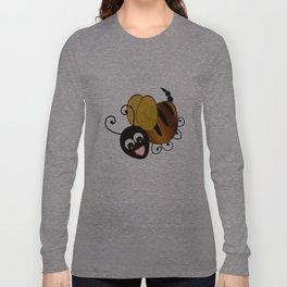 Bee in Black Long Sleeve T-shirt