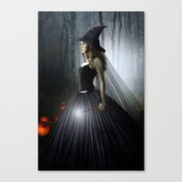 witch Canvas Prints featuring Witch by Julie Hoddinott