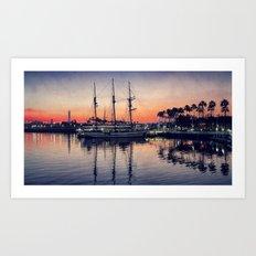 Bay Side Sunset Art Print