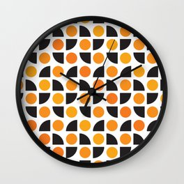 Geometric Pattern #175 (orange circles) Wall Clock