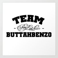 pretty little liars Art Prints featuring Team Buttahbenzo - Pretty Little Liars (PLL) by swiftstore