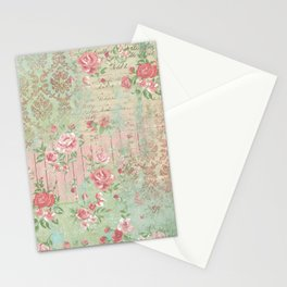 Shabby Chic Floral Collage Stationery Cards