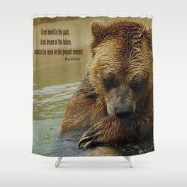 In Deep Thought   - Grizzly Bear Shower Curtain