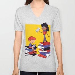Books and children Unisex V-Neck