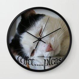 Sleepy kitty Wall Clock