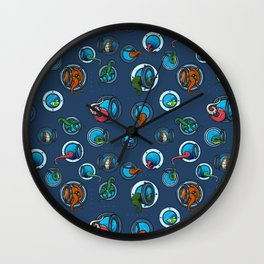 Portholes Wall Clock