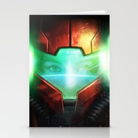 metroid Stationery Cards featuring Metroid by Joe Roberts