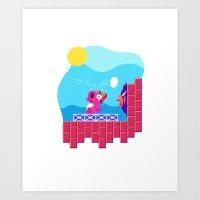 Teeny Tiny Worlds - Super Mario Bros. 2: Birdo Art Print