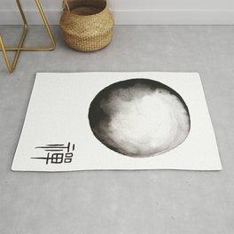 "Zen painting and Chinese calligraphy of ""Zen"" Rug"