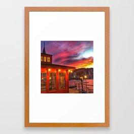 Sunset Gazebo  Framed Art Print