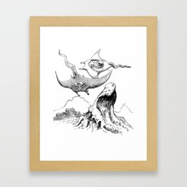The Battle in the Sky Framed Art Print