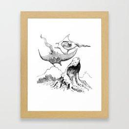 The Battle in the Sky Framed Art Print