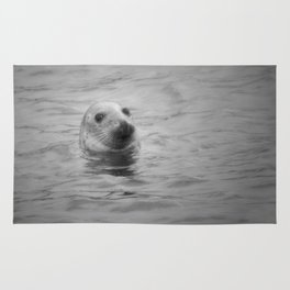 seal in the sea Rug
