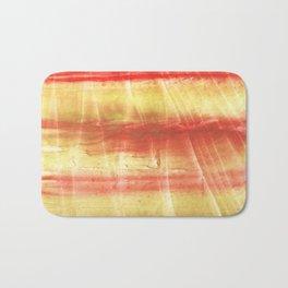 Red yellow Bath Mat