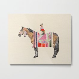 Horse with hare  Metal Print