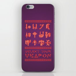 Monster Hunter: Select Your Weapon iPhone Skin