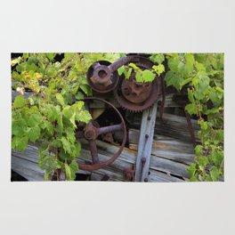Overgrown Machinery Rug