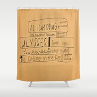 books Shower Curtains featuring Books by Maggie Dylan