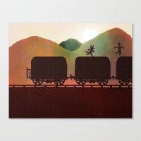 run Canvas Prints featuring RUN by Orphan Elliott