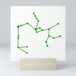 Sagittarius (Green & White) Mini Art Print