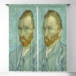"Vincent van Gogh ""Self-portrait"" (1) Blackout Curtain"