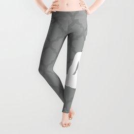 Grey and White Buddha Leggings