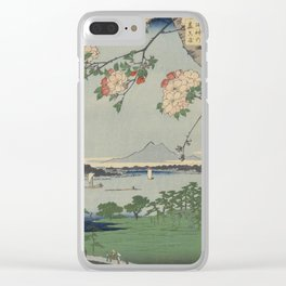 Cherry Blossoms on Spring River Ukiyo-e Japanese Art Clear iPhone Case