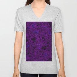 Purple cubes Unisex V-Neck
