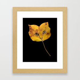 Autumn Cat-1 Framed Art Print
