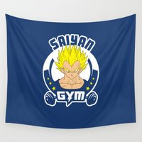 gym Wall Tapestries featuring Gym V by Buby87