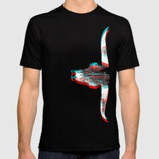 Sidewinded (Inverted) LARGE Black Mens Fitted Tee