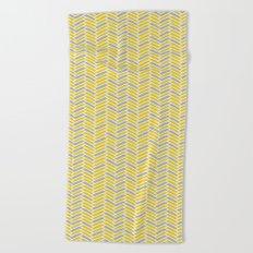 inspired herringbone Beach Towel
