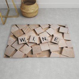Scrabble Tiles Wine Rug