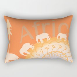 Africa elefants Rectangular Pillow