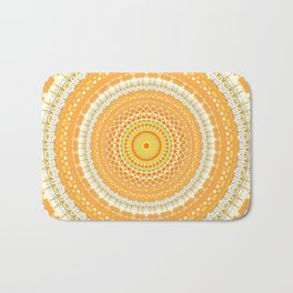 Marigold Orange Mandala Design Bath Mat