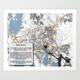 Atlas of Inspiring Protests; VÄXJO Art Print