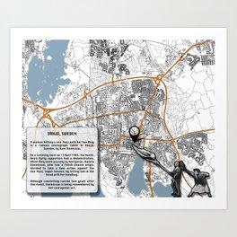 Atlas of Inspiring Protests; VÄXJO Art Print